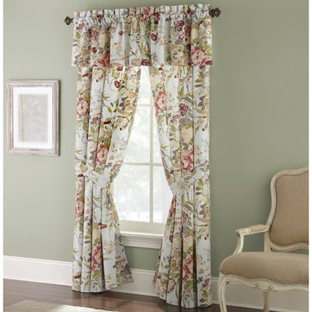 Rose Tree Lorraine Floral/Flower Room Darkening Rod Pocket Panel Pair (Set of 2)