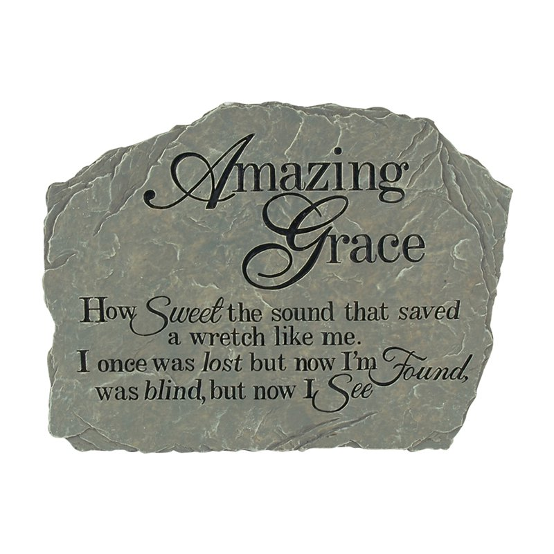 Carson Home Accents Amazing Grace - Garden Stone