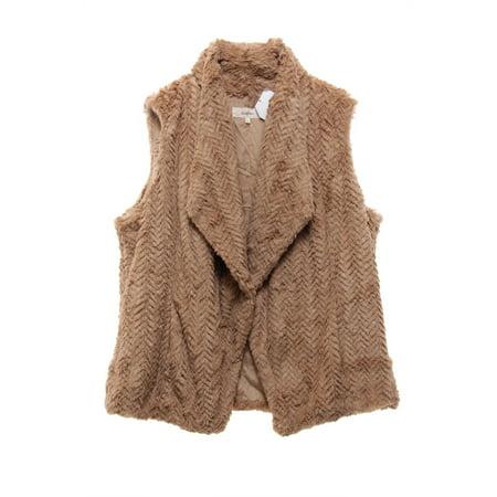 WILDFLOWER $119 NEW 2486 Faux-Fur Vest Womens Jacket XL