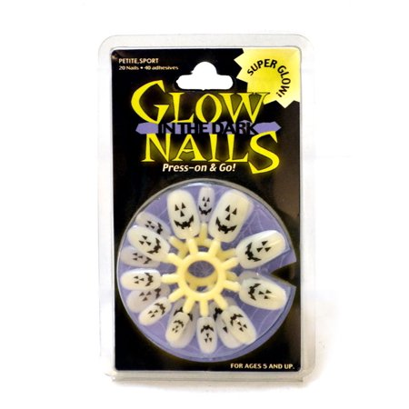 Cute Halloween Nails For Beginners (GLOW STICK PRESS ON NAILS)