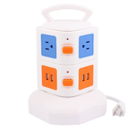 Surge Protection Power Strip Smart Socket 6 Us Outlet 4 Usb Port 6Ft Cable
