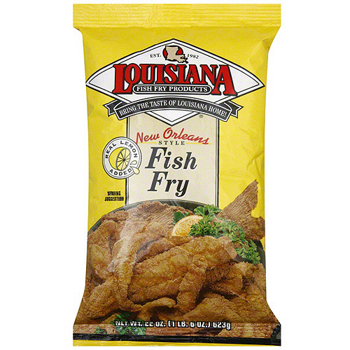 Louisiana Fish Fry Products Fish Fry With Lemon, 22 oz (Pack of 12)