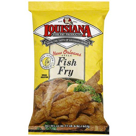 Louisiana fish fry products fish fry with lemon 22 oz for Walmart fish fryer