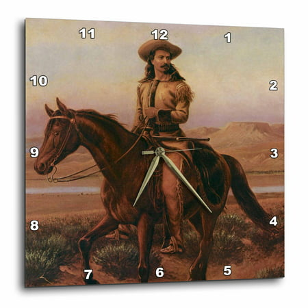 3dRose Buffalo Bill Cody, Wall Clock, 13 by