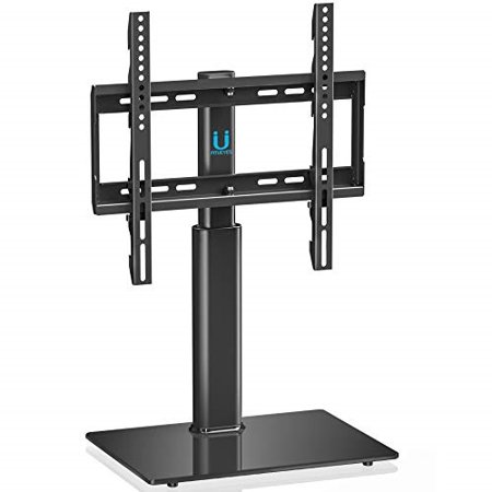 fitueyes universal tv stand base swivel tabletop tv stand base with mount for 32 to 55 inch flat screen tv 3 level height adjustable holds up to 110lbs screens vesa 400x400mm tt104501gb (50 Inch Flat Screen Stand)