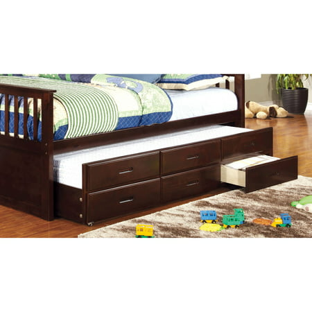 Williams Twin XL Trundle with Drawers (Extra Long Twin Pop Up Trundle Bed Frame)