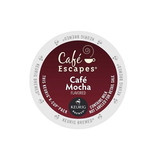Café Escapes Café Mocha, K-Cup Portion Pack for Keurig Brewers, 24-Count
