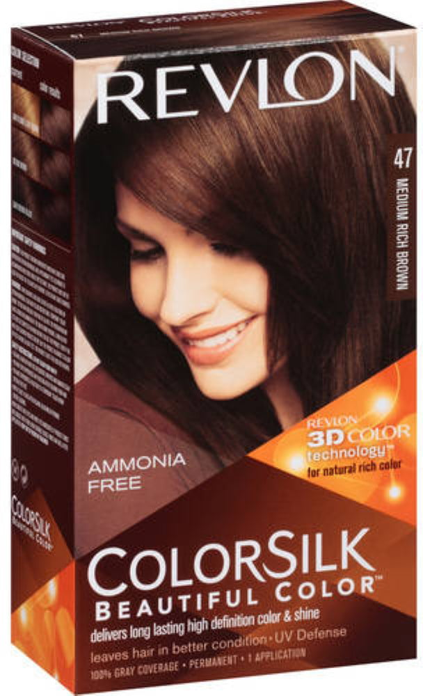 Revlon Colorsilk Hair Color 47 Medium Rich Brown 1 Ea Pack Of 6