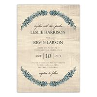 Personalized Wedding Invitation - Rustic Romance - 5 x 7 Flat