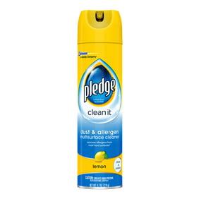 Pledge Dust Allergen Multisurface Cleaner Lemon 9 7 Oz