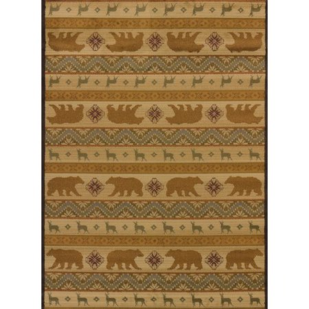 United Weavers Of America Affinity Nordic Bear Cream Area Rug