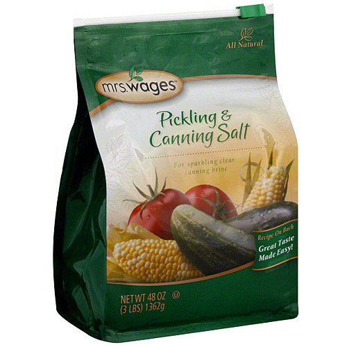 Mrs. Wages Pickling & Canning Salt, 3 lb (Pack of 6)