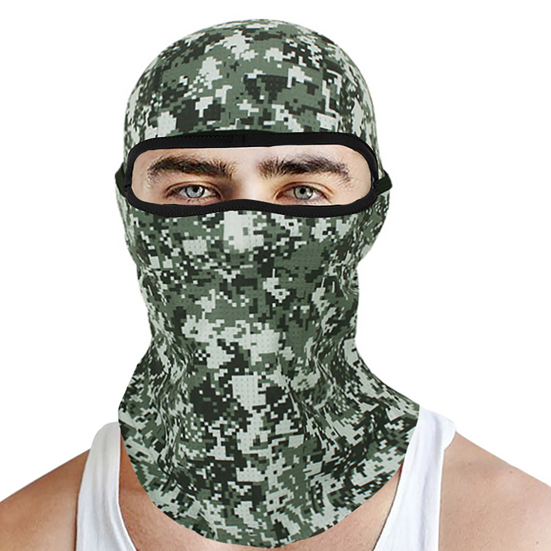 Unisex Leopard Neck Warmer Snood Bandana Tube Camouflage Ski Cycling Face Cover