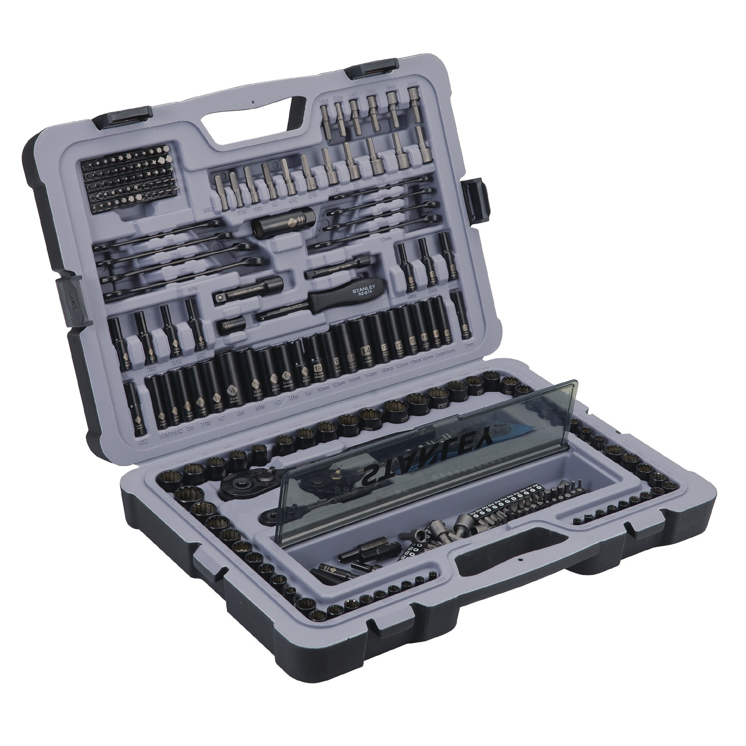 STANLEY 123-Piece Mechanics Tool Set, Black Chrome | STMT72254W by Stanley Black & Decker