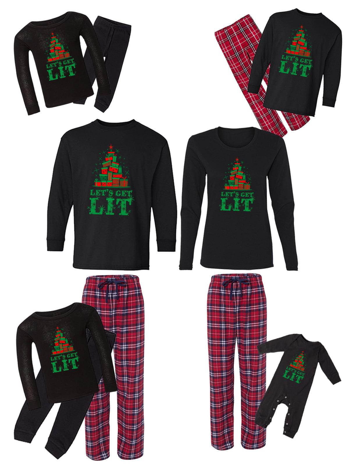 Awkward Styles Family Christmas Pajamas Set Red Let's Get ...