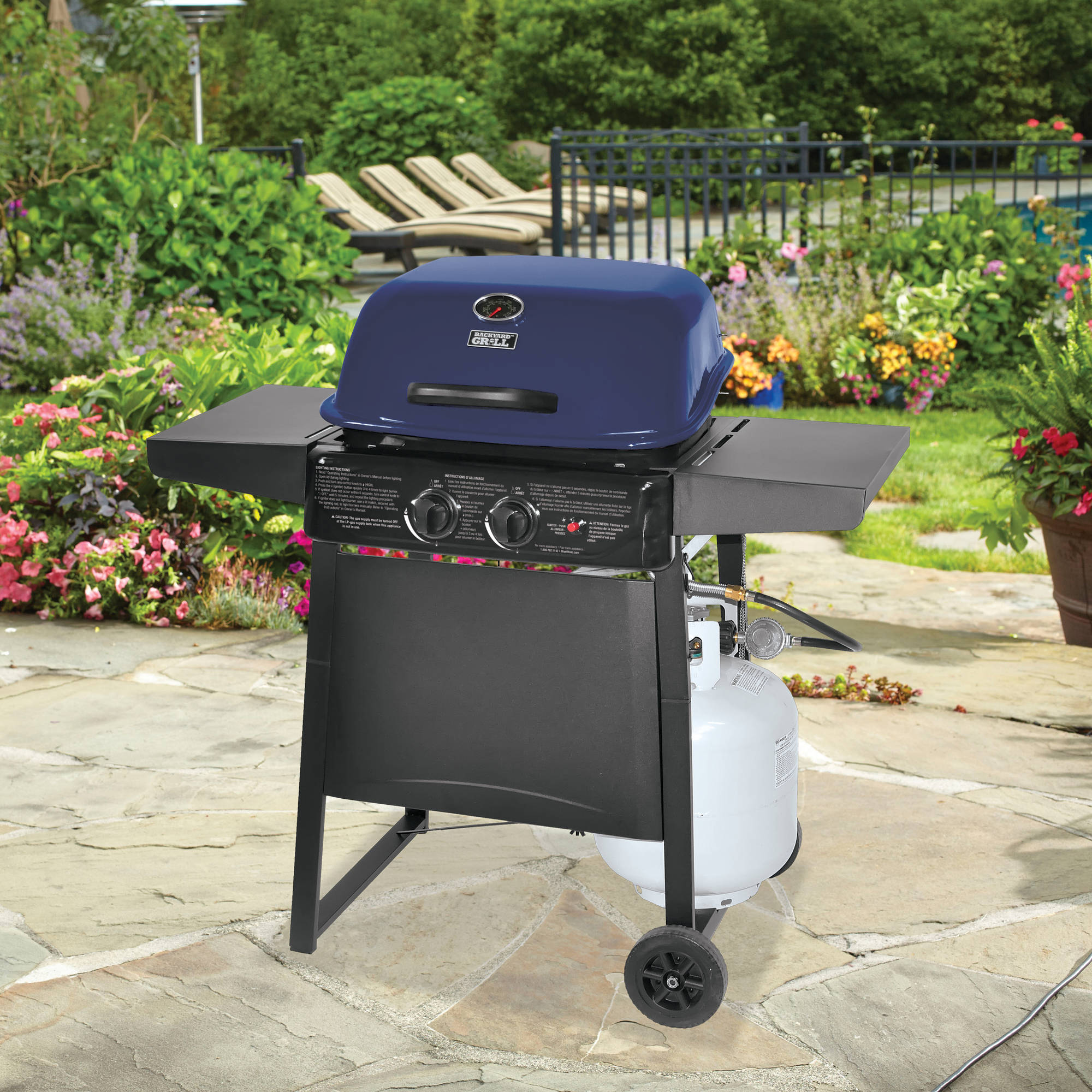 Walmart Electric Grills Outdoor ~ Walmart lp burner gas grill blue