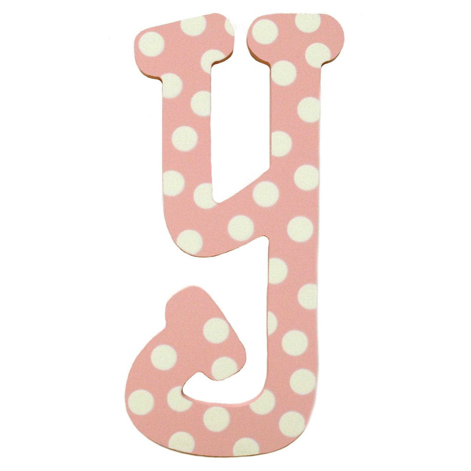 My Baby Sam Pink Polka Dot Letter