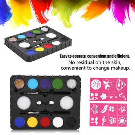 8 Colors Vivid Water-based Pigment Face Body Paint Palette Painting Kit DIY Cosplay Tool, 8 Colors Face Paint Kit, Painting Kit