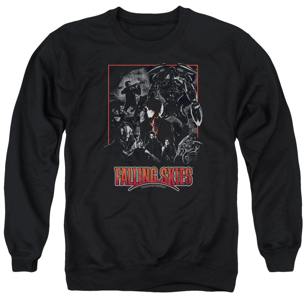 Falling Skies Collage Mens Crewneck Sweatshirt