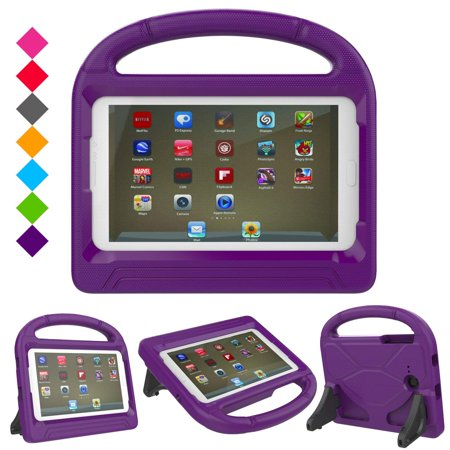 Galaxy Tab 3 Lite/ Tab E Lite 7.0-inch Case for Kids, Allytech Shock Proof Protective Case Cover with Carry Handle for Samsung Galaxy Tab 3 Lite 7.0 SM-T110 /Tab E Lite 7-Inch SM-T113 - Purple ()