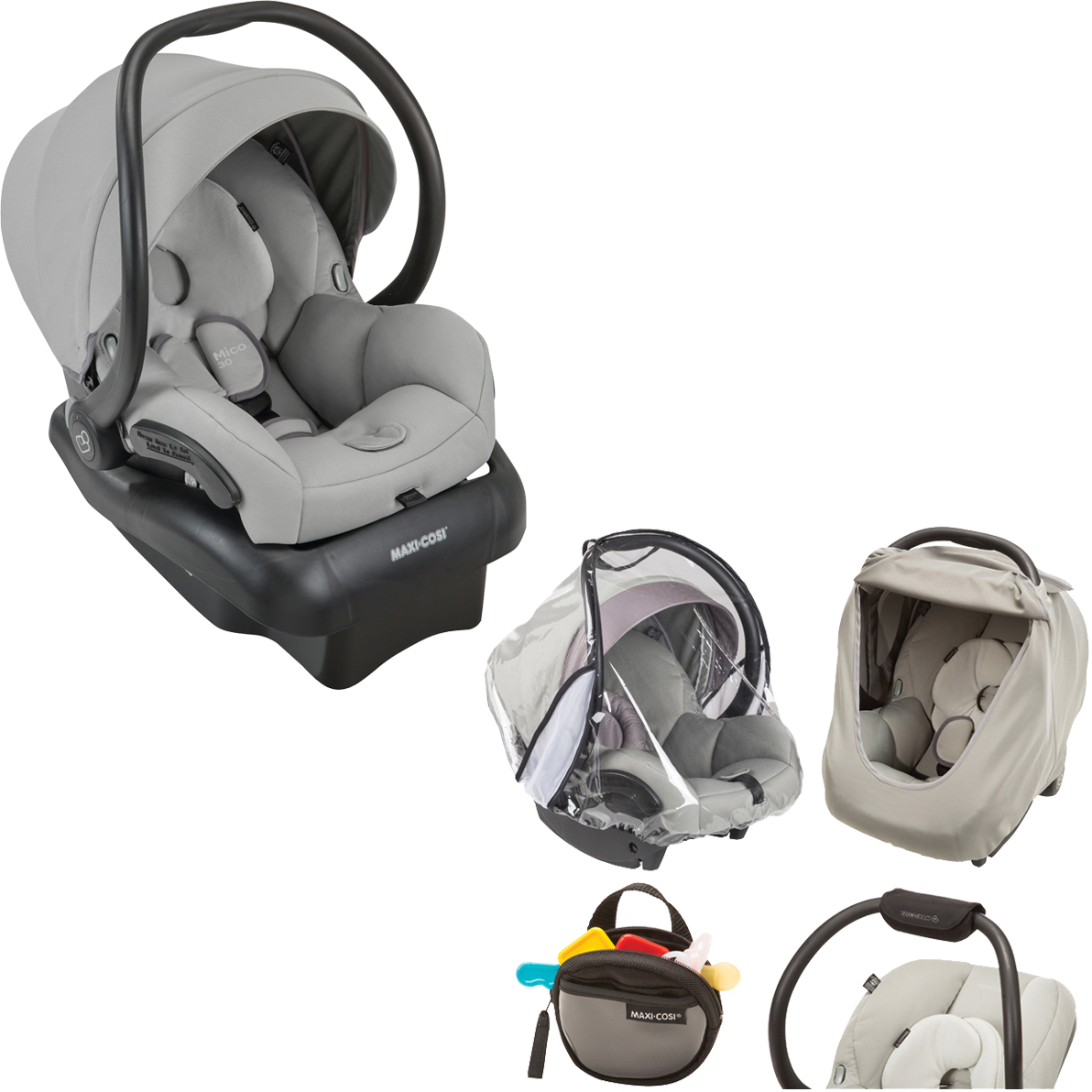 Maxi Cosi Mico 30 Infant Car Seat, Choose Your Color & Accessory Pack BUNDLE