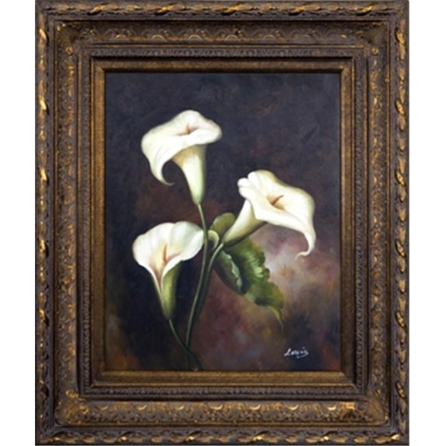 Artmasters Collection YK64022B-668DG Calle Lillies II Framed Oil Painting