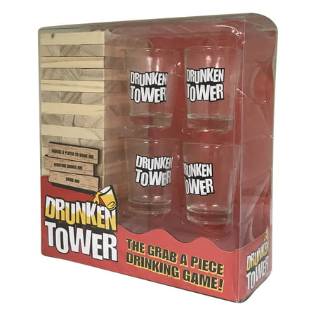 Fun Drinking Game with friends and family for a Game Night with this Drunken Tower Drinking Game;Product Size: 8 x 7.5 x4