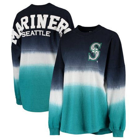Seattle Mariners Authentic Alternate Jersey (Seattle Mariners Women's Oversized Long Sleeve Ombre Spirit Jersey T-Shirt - Navy)