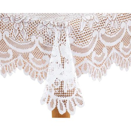 White Rose Lace Tablecloth 72 Round Walmartcom