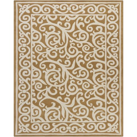 Chandra Rugs Hanu Swirl Brown Tan Area Rug Walmart Com