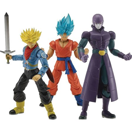 Dragon Ball Dragon Stars Series 3 SSGSS Goku, SS Future Trunks & Hit Set of 3 Action Figures [Fusion Zamasu (Future Rodeo Star)