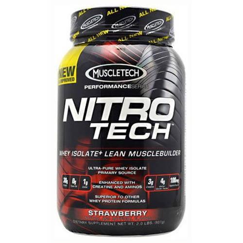MuscleTech Nitro-Tech, Strawberry, 2 LB