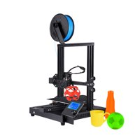Creasee CS-3 3D Printer DIY Kit Ultra-Thin Metal Base High Precision Rapid Self-Assembly Resume Printing with 3.2 Inch Screen Print Size 220*220*250mm