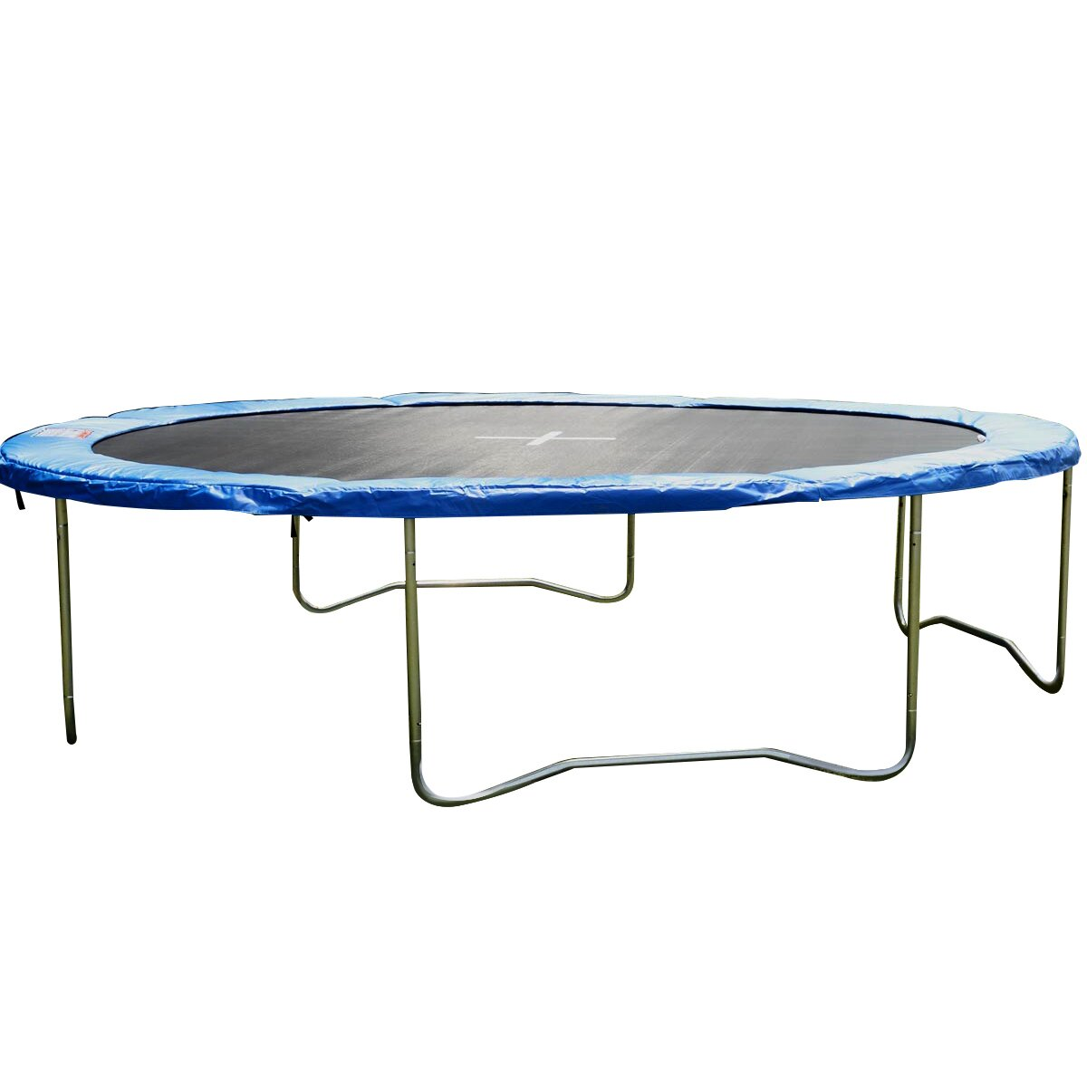 Gymax Blue Safety Pad Spring Round Frame Pad Cover Replacement for 12FT Trampoline