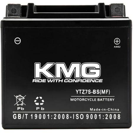YTZ7S Battery For Yamaha 50 JOG ZR 2011-2012 Sealed Maintenace Free 12V Battery High Performance SMF OEM Replacement Maintenance Free Powersport Motorcycle ATV Scooter Snowmobile Watercraft KMG - image 2 of 3