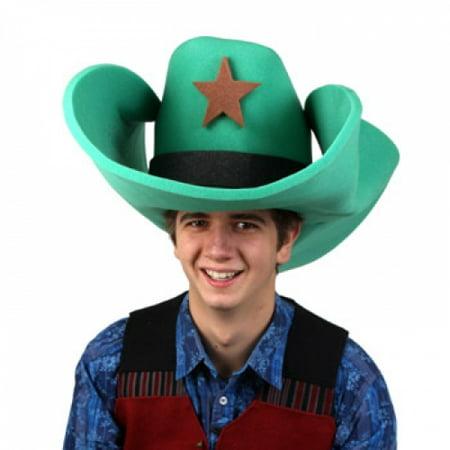 Clown Antics Super Size 50 Gallon Cowboy Hats - Green (28