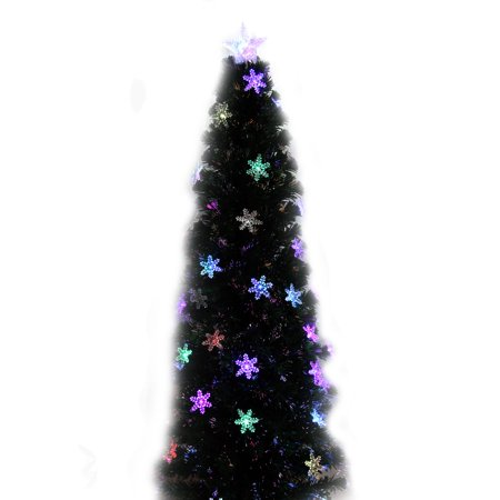 Fibre Optic Christmas Tree With Baubles.240cm Ziburry Fibre Optic Christmas Xmas Tree With Multicolor Change Baubles Led Snowflakes Lights