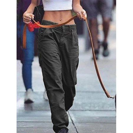 Low Waist Women Casual Loose Pants Trousers Low Waist Pants