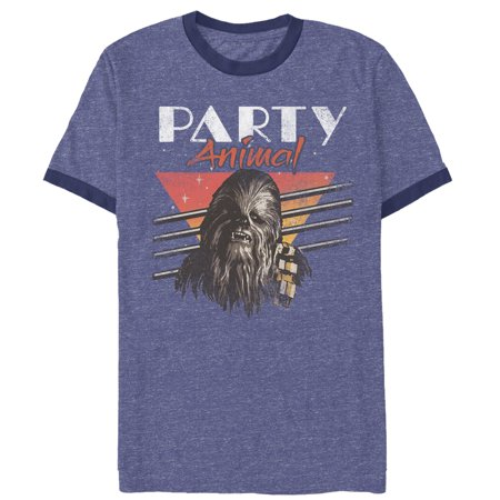Star Wars Men's Chewbacca Party Animal Ringer T-Shirt - Chewbacca Jacket