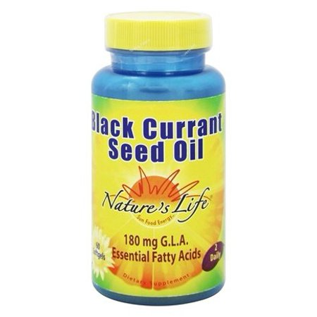 Nature's Life Black Currant Seed Oil | Helps Support Healthy Skin, Nails, Joints & Immune Function | 180mg GLA (Gamma-linolenic acid) | Softgel,