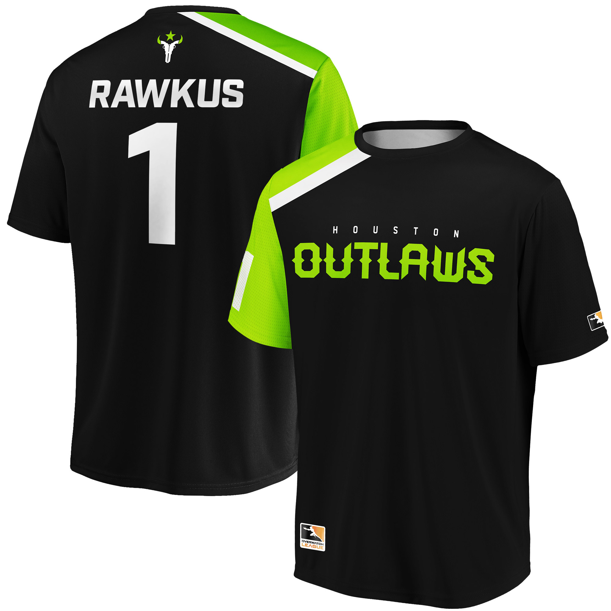 Rawkus Houston Outlaws Overwatch League Replica Home Jersey - Black