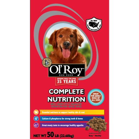 Ol' Roy Complete Nutrition Adult Dry Dog Food, 50 (Best Dry Dog Food For Colitis)
