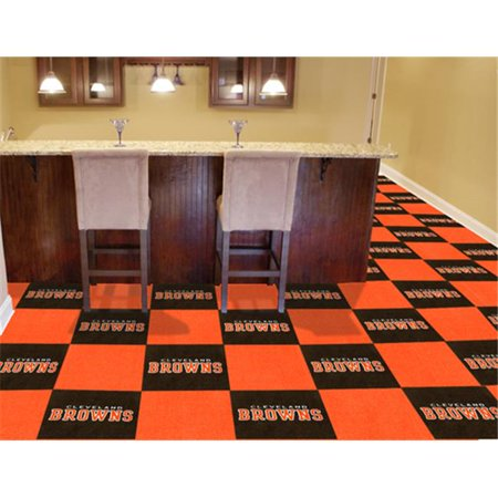Fanmats 8555 Cleveland Browns Carpet Tiles 18 In  X 18 In  Tiles