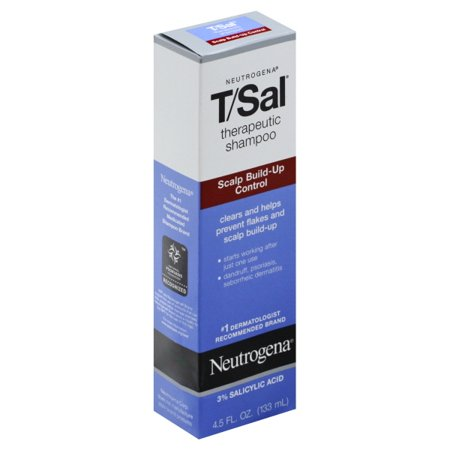 Neutrogena T/Sal Shampoo Scalp Build-Up Control, 4.5 Fl (Best Medicated Shampoo For Seborrheic Dermatitis)
