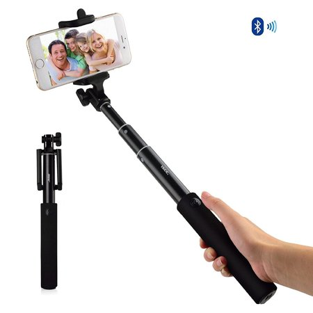ixcc bluetooth selfie stick extendable phone holder with built in remote shu. Black Bedroom Furniture Sets. Home Design Ideas