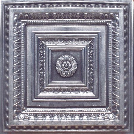 Brilliance Antique Silver Black PVC Ceiling Tiles for Drop in Grid System (10 pack)