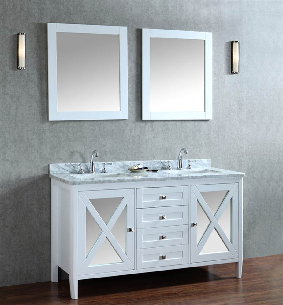 3-Pc Summit Double Sink Vanity Set in White Finish