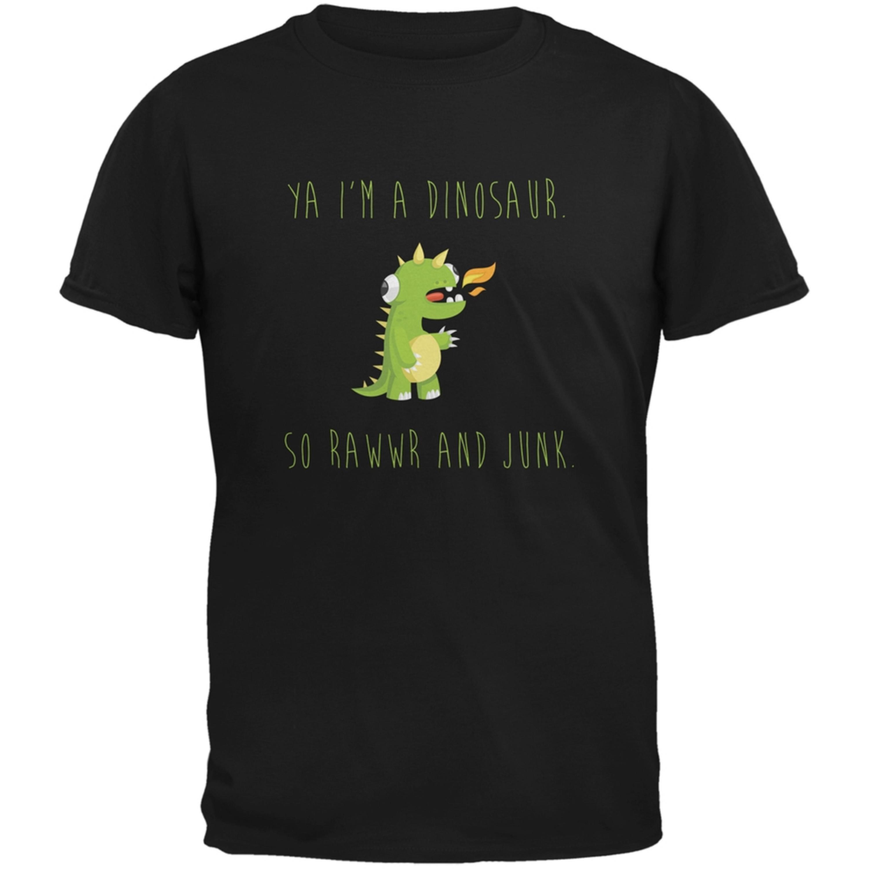 Ya I'm a Dinosaur - Goofy Black Adult T-Shirt