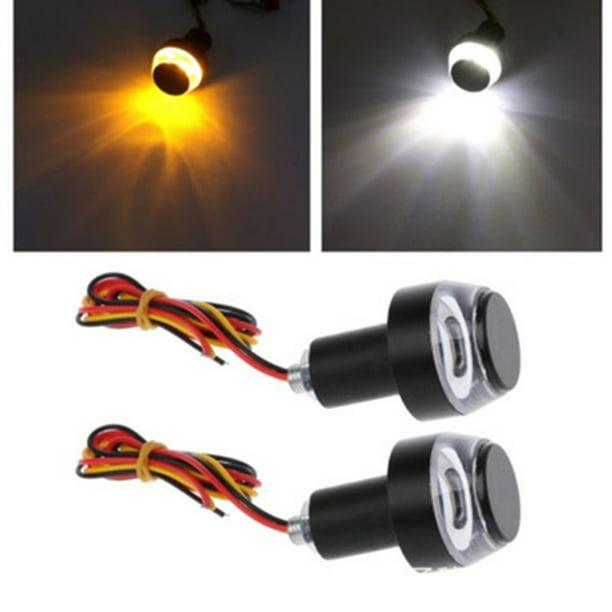 Premium Motorcycle Bike Side marker Turn Signal Indicator Lights Lamp Universal