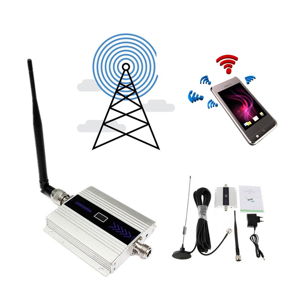 Small Size Alloy LCD GSM 900MHz Mobile Cell Phone Signal Repeater Booster